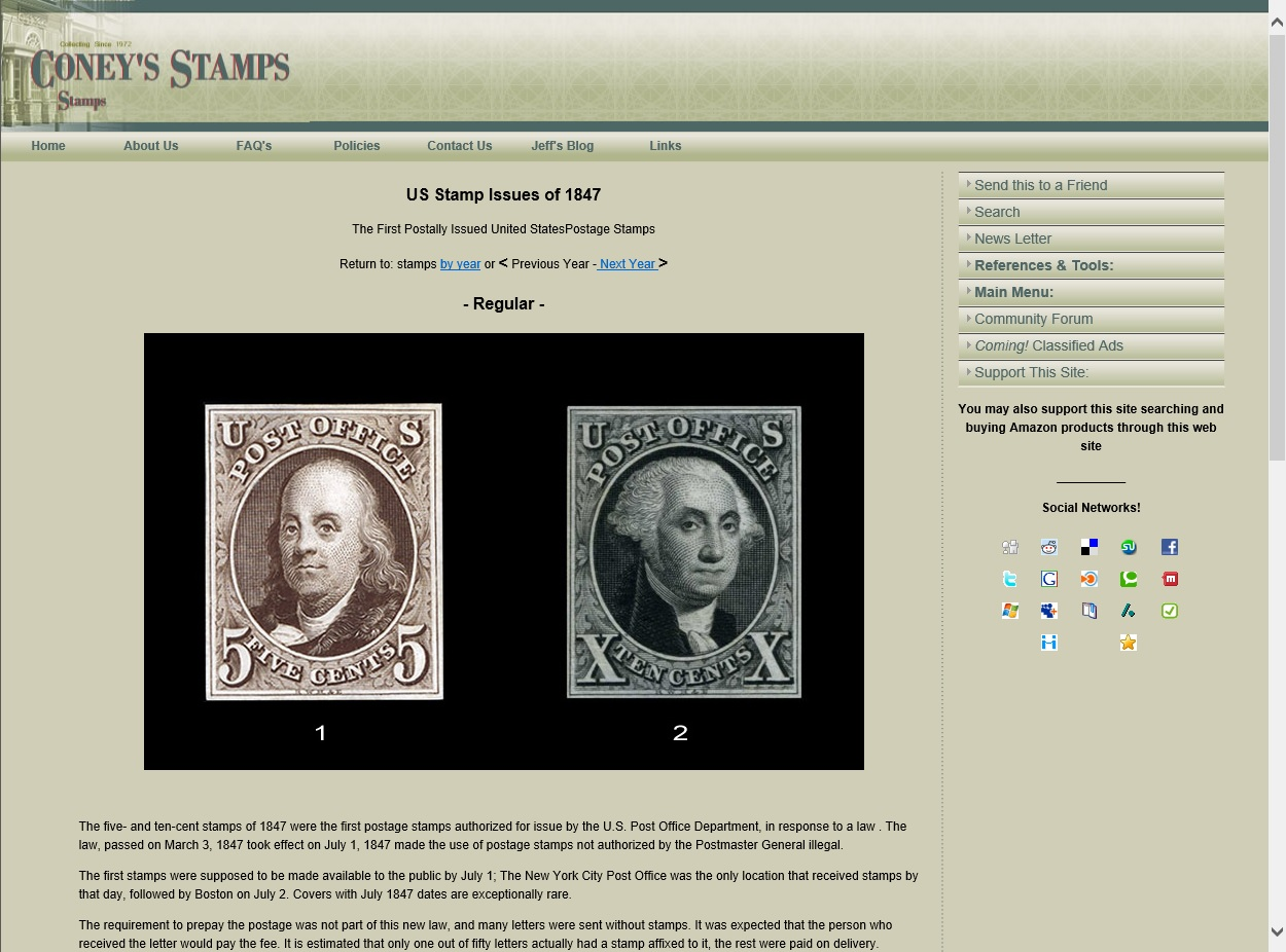 Coney's Stamps Website