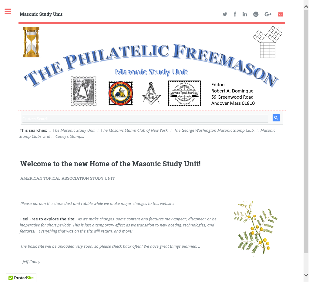 Masonic Study Unit Website